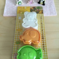 Bento set bear, elephant and fish