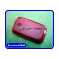 Silikon Case Samsung Champ Neo Duos C3262 Merah Transparan