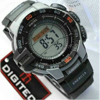Jam Tangan Digitec Original DG 2070T Black Grey
