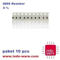 300K 300 Kilo Ohm 0805 5% paket 10 pcs resistor smd