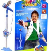 Mainan Anak Super the voice Mic Stand Karaoke Mp3 Ipod Music Nyanyi