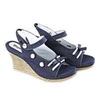 harga Sepatu Sandal Wedges Biru Blackkelly - Lcc 918 Tokopedia.com