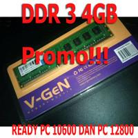 RAM VGEN DDR3 4GB PC10600 / MEMORI DDR 3 4 GB