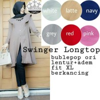 GROSIR BAJU HIJAB BLOUSE SWINHER LONGTOP RT