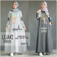 dress Lilia bahan babyterry spt gambar /atasan/top muslim/hija