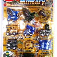 Mainan anak Mobil kecil, Kendaraan mini MILITARY ISI 11 Grosir Murah
