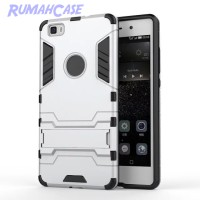 Huawei Ascend P8 Lite - IRON MAN HardCase Armor with Stand Holder Case