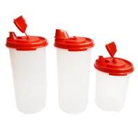 Tupperware Stor N Pour - Merah - 3 Pcs