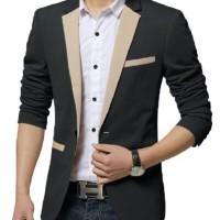Blazer Pria Blazerman Hitam Fashion Formal murah Keren cowok