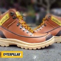 SEPATU BOOT CATERPILLAR TREKKING SAFETY TAN MURAH