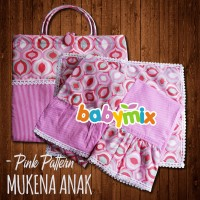Babymix - Mukena Katun Jepang Anak Size 3-5 Tahun - Gamis Shalat Anak