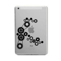 Tokomonster Decal Sticker Apple iPad Mini and Air - Steampunk Gears