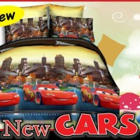Sprei cars duo bed sorong 1KG
