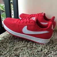 Sepatu Nike Air Force One Merah Putih Vietnam Man Cowok 40-44