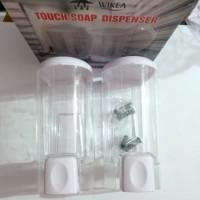 harga tempat sabun cair double wikea / dispenser sabun shampo cuci tangan Tokopedia.com