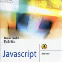 harga Belajar Sendiri Pasti Bisa Javascript Tokopedia.com