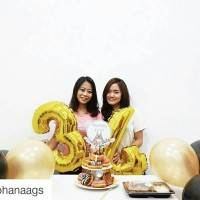 Jual Balon Foil Angka Jumbo Gold Murah