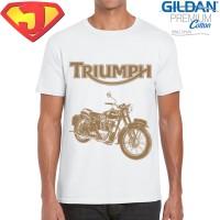 Kaos Classic Bikers - Motor Klasik Triumph 5 - Original Gildan