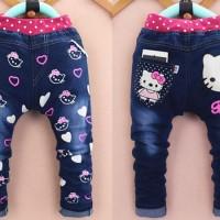 Baju Anak Celana Jeans Anak Perempuan Import Hello Kitty