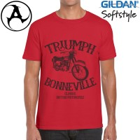 Kaos Vintage Bikers Classic - Motor Klasik Triumph 1 - Original Gildan