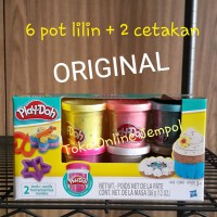 Jual 6 Lilin+2 Cetakan Confetti Compound Collection Playdoh Original Hasbro Murah