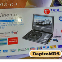 "DVD PLAYER PORTABLE 10"" INCH TORI TPD-901"