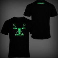 Kaos Distro Motor C70 Pitung Glow In The Dark (Fosfor)