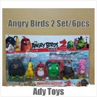 Action Figure Set / 6pcs Angry Birds 2 Movie