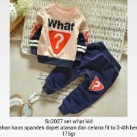 St Setelan Baju Anak Laki-laki Set What Kid