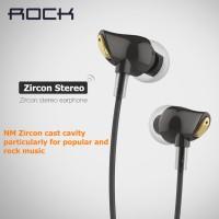 Jual Rock Zircon HD Stereo Earphone with Microphone wired in-Ear Headphone Murah