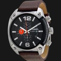 Diesel DZ4204 Advanced Chronograph Black Dial Brown Leather Strap Watc