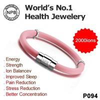 Noproblem ion balance S094 Tourmaline silicone power health bracelet