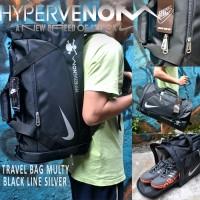 harga travelbag nike black line silver 3 in 1 Tokopedia.com