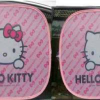 Tutup kaca mobil sunscreen samping Hello Kitty