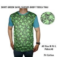 SHIRT GREEN SAVIL SLEEVES BODY TOSCA THAI