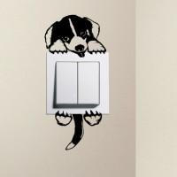 Jual Stiker Dekorasi Saklar Lampu Motif Anjing Lucu Unik Decal Wall Sticker Murah