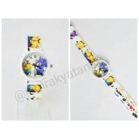 Jam anak karakter minion dan snow white (rubber)