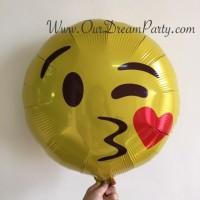 Balon Emoji/ Emot Icon/ kiss