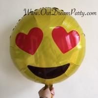 Balon Emoji/ Emot Icon Love Hati