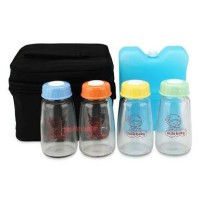 Tas Penyimpanan ASI Bayi cooler bag Little Baby FREE 4 BOTOL + ICE BAG