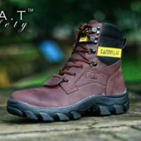 sepatu Caterpillar safety boot coklat termurah 01