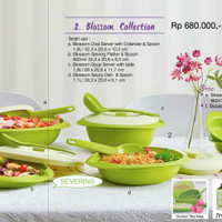 Jual Tupperware Blossom Collection Hijau Murah
