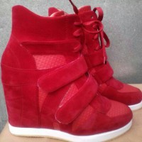 sneaker hidden wedges sepatu wanita hitam kets adidas nike heels