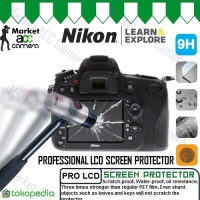 Screen Guard Protector Tempered Glass LCD Nikon for D7000/D7100