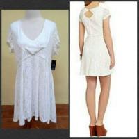 harga DRESS BRANDED JUMBO BIGSIZE MURAH ORIGINAL JESICA SIMPSON BRUKAT PUTIH Tokopedia.com