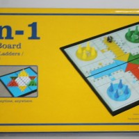 Magnetic Board Game 3 In 1 Ludo, Halma, Ular Tangga - U3 38812