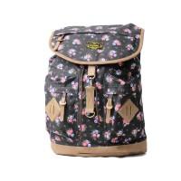 Tas Ransel Vintage VJ Black Floral | Fashion Vintage Backpack
