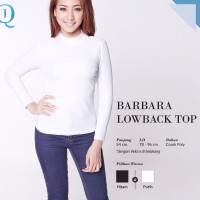 CRG162069 - Barbara Low Back Top / Baju Lengan Panjang Polos High Neck