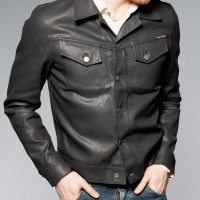 Nudie Jeans Conny Back 2 Black (Black coated denim) Jacket