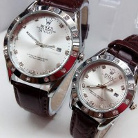 Jam Tangan Rolex Couple Pria Wanita Free Box Rolex